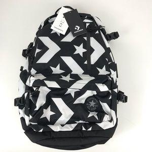 Converse Black & White Logo Backpack laptop bottle